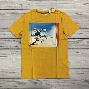 Boys Old Navy Yellow Graphic Tee Size XL