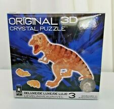 NIB Deluxe Bepuzzled 3D crystal puzzle gold T Rex Dinasour