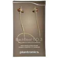 Plantronics BackBeat GO 3 Sweatproof Bluetooth Headset Earbuds - Grey Orange