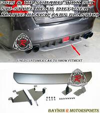 ST-Style Rear Diffuser (ABS) - Matte Black Fits 15-17 Subaru WRX STi 4dr