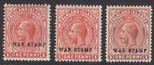FALKLAND ISLANDS 1918-20 SG71 SG71c & SG71d 1d WAR STAMP MINT TRIO