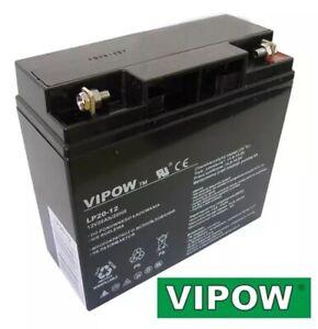 Vipow AGM Batterie Instustriequalität 12V 20Ah mit 5,4KG 167x181x77mm