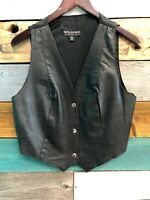 Wilsons Leather Sz XLarge Womens Button Snap Front Motorcycle Casual Vest