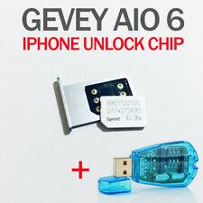 Gevey AIO6 ESN unlock SIM ADAPTER for iPhone 5s, 6/6+, 6s/6s+, 7/7+, 8/8+, X