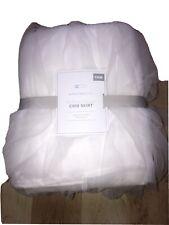 pottery barn kids Ruffled Tulle Crib Skirt original $129 WHITE