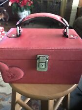 Beautiful Juicy Couture Dark Pink Or Light Cherry Colored Jewelry Box EUC