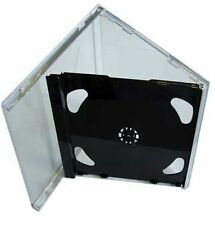200 DOPPIO CD JEWEL CASE 10.4 mm standard per 2 CD Con Nero Pieghevole Vassoio AAA
