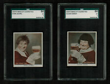 SGC 5 STAN LAUREL & OLIVER HARDY with THE CORRECT NAME IDENTIFICATION Rare Cards