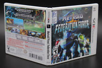 Metroid Prime Federation Force Nintendo 3DS Replacement Case & Cover Art NO GAME