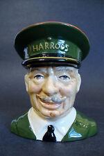 "Carlton Ware England Character Toby Jug 4497 *Harrods Doorman* - 4 1/4""H"
