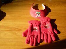 Holiday Christmas Women's Red Gloves Buffalo  - Hawaii Visor Red