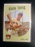 1959 Topps WB #414 Dale Long Cubs ExMt Well centered (No creases)