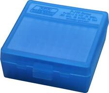 MTM PLASTIC AMMO BOXES (2) BLUE 100 Round 38 / 357 - FREE SHIPPING