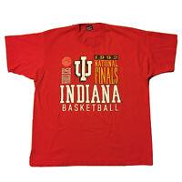 Vintage 90s Indiana Hoosiers T-Shirt Mens XXL University Single Stitch 1992 Red