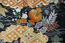 Vintage  Japanese silk   Kimono dress  TOMESODE from Japan 10-34