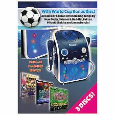 Mr Entertainer CDG Karaoke Machine Bluetooth Flashing LED Lights (KAR120)