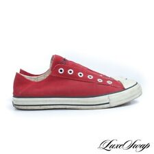 Converse x John Varvatos Lipstick Red Suede Captoe Laceless All Star Sneakers 8
