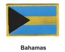 """BAHAMAS FLAG EMBROIDERED PATCH - IRON-ON - NEW 2.5 x 3.5"""" FREE SHIPPING"""