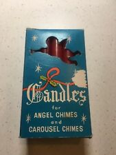 """Vintage Christmas Angel Chimes-Carousel Chimes 12 - 3.5"""" Red Boxed Candles + 3"""