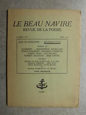 LE BEAU NAVIRE Revue Poésie n°8 04/39 Audiberti PRASSINOS Fombeure OLIVE TAMARI