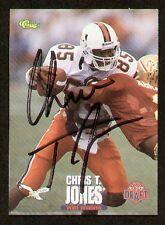 Chris Jones signed autographed Football Card Miami