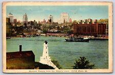 Montreal Canada from Saint Helen's Island Circa 1942 White Border Postcard