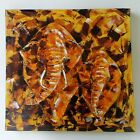Abstract Elephant Modern palette knife Hand painted Acrylic colours art Painting