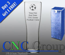 Personalised Engraved Aspen Pint Glass Football Award Trophy Gift Sports