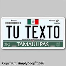 "Mexico Mexican Tamaulipas TU TEXTO Novelty Vanity License Plate Tag 6""x12"" New"