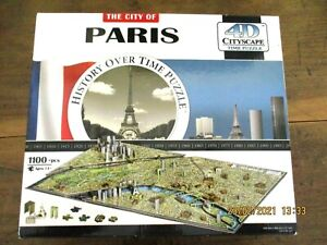 THE CITY OF PARIS 4D CITYSCAPE HISTORY OVER TIME PUZZLE - 1100 pieces+- COMPLETE
