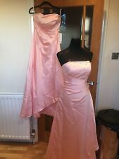 2 X JJ HOUSE bridesmaid Dresses And Shawls - New- Pearl Pink- Size 8 And 10