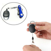 Utility Clip Key Chain Keyrring with Quick Retract Key Reel Retractor