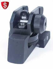 Rear Iron Sight Tactical AR Pattern Rifles Mount Adjustable Detachable Sights