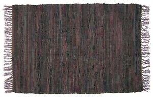 Sturbridge 2' x  3' Rag Rug in Tobacco Brown, All Cotton, Hand Woven