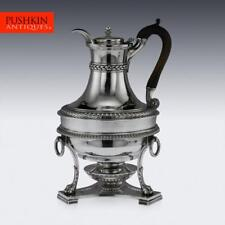 More details for antique 19thc rare georgian solid silver jug on stand, paul storr c.1806