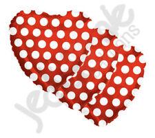 "3 pc - 18"" Polka Dot Red Heart Balloon Wedding Baby Bridal Shower Birthday Love"