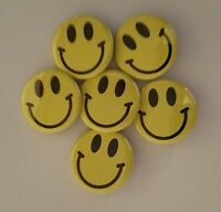 "Lot of 12 1.25"" Pinback Buttons Emoji Smiley Happy Face (Approx. 32mm)"
