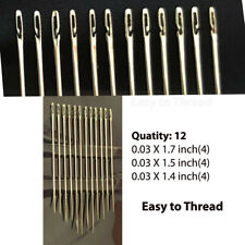 One Second Needles Assorted 12 Pcs Set Hand Sewing Home Tool Accessories