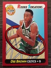 Dee Brown RC 1991-92 Fleer ROOKIE SENSATIONS insert #10