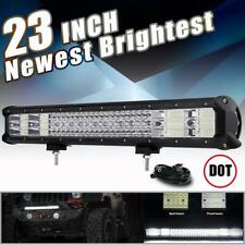 3760W Quad Row 23 INCH LED Light Bar Combo Offroad For JEEP Ford F-150 Pickup