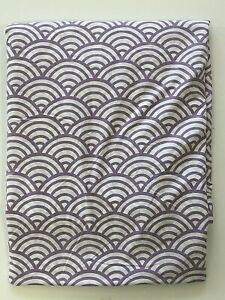 Pottery Barn Teen Quincy Scallop TWIN DUVET Cover Purple White 64x82 Cotton