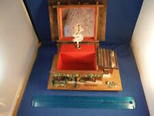 """Vintage Swiss Chalet Spinning Ballerina """"The Godfather Theme Song"""" Music Box"""
