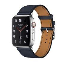 Apple Watch Hermès Series 4, 44mm Stainless Steel Case with Bleu Indigo Swift
