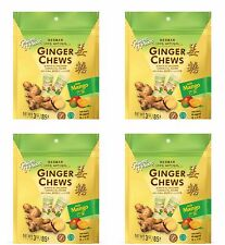 4 BAGS Prince of Peace Mango Ginger Chews Chewy Candy 100% All Natural 3oz