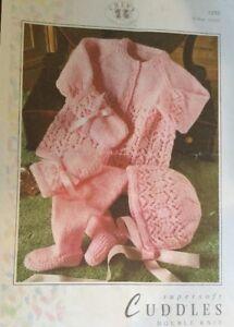 """DK Knitting Pattern Babies Pram Suit Mate nee Coat Size 16/22"""""""