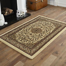 QUALITY SMALL X EXTRA LARGE RUG - TRADITIONAL CLASSIC BEIGE RUGS, RUNNERS & MATS