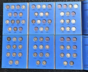 Partial Part I & II Albums of Barber Quarters, Fifty-Nine (59) Coins  No Reserve