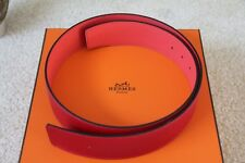 100% Authentic Hermes Pink/Red Togo & Epsom Leather Belt 42 MM - size 75