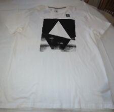 Men's Volcom short sleeve t shirt Modern Fit XL Hand Geo S/S TEE white A5021703