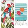 Exotic Breeze Kitchen Towel Set Parrots Tropical Theme Terry & Fouta Towel Set
